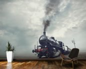 Steam Train wall mural kitchen preview