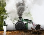 Steam Train in Motion wallpaper mural kitchen preview