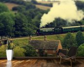 Steam Train Landscape wall mural kitchen preview