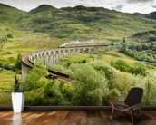 Steam Train On Viaduct wallpaper mural kitchen preview