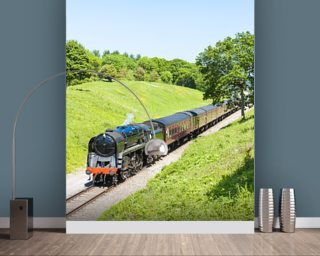 Steam Train Wall Mural Wallpaper Part 39