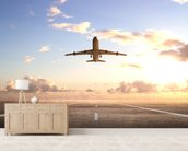 Aeroplane On Runway wall mural living room preview