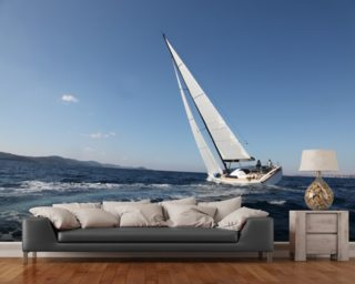 Sailing on the Adriatic Sea mural wallpaper