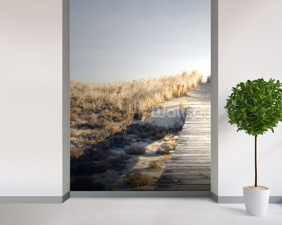 Boardwalk to Nowhere wall mural room setting