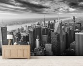 Aerial View of Manhattan wall mural living room preview