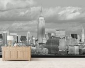 NY City Skyline wallpaper mural living room preview