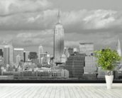 NY City Skyline wallpaper mural in-room view