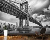 New York Bridge mural wallpaper kitchen preview