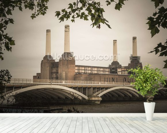 Battersea wall mural room setting