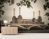 Battersea wall mural living room preview