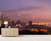 Seattle Sunset wall mural living room preview