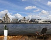Liverpool River Mersey wallpaper mural kitchen preview