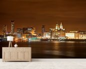Liverpool at Night wall mural living room preview
