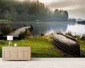 Loch Ard Jetty wallpaper mural living room preview