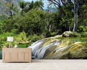 El Nicho Waterfall, Cuba mural wallpaper living room preview