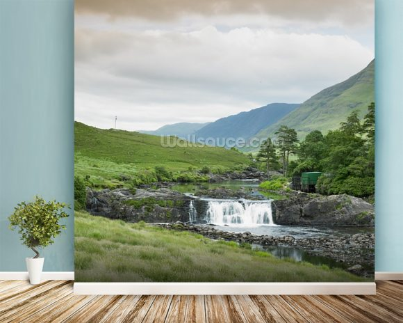Aasleagh Falls, Galway wall mural room setting