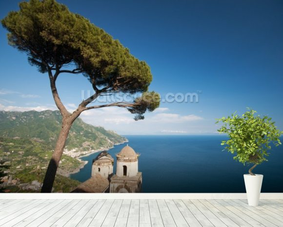 Amalfi Coastline wallpaper mural room setting