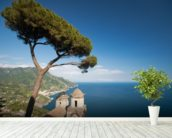 Amalfi Coastline wallpaper mural in-room view