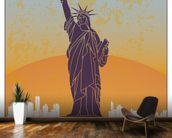 Vintage New York wall mural kitchen preview