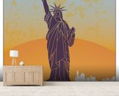Vintage New York wall mural living room preview