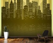 Vintage Skyline wallpaper mural kitchen preview