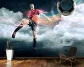 Soccer mural wallpaper kitchen preview