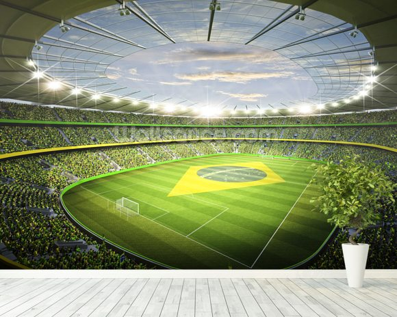 Stadion Brasil 2 wallpaper mural room setting
