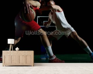 Basketball player in action mural wallpaper