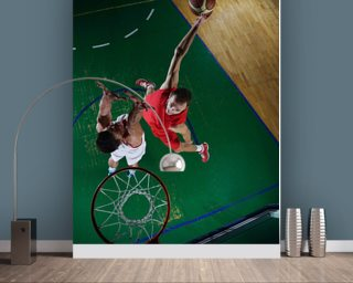 Football wall murals sport wallpaper murals wallsauce usa for Basketball mural wallpaper