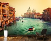 Venice Sunset mural wallpaper kitchen preview