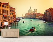 Venice Sunset mural wallpaper living room preview
