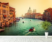 Venice Sunset mural wallpaper in-room view