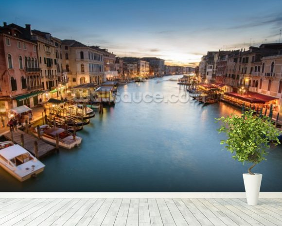 The Grand Canal from Rialto wall mural room setting