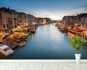 The Grand Canal from Rialto wall mural in-room view