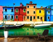 Burano Island mural wallpaper kitchen preview