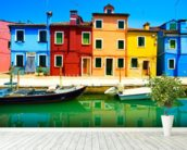 Burano Island mural wallpaper in-room view