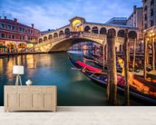 The Rialto Bridge mural wallpaper living room preview