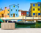 Burano Island, Venice wall mural living room preview
