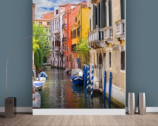 Venetian Houses wallpaper mural