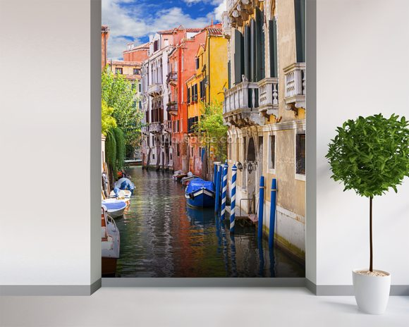 Venetian Houses wallpaper mural room setting