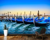 Gondolas at Sunset mural wallpaper kitchen preview