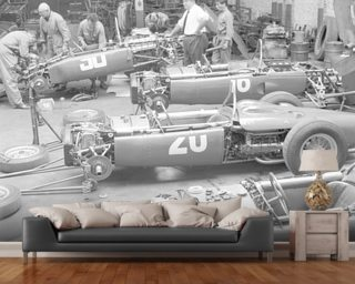Ferarri Dino 156's (1961 French Grand Prix) wall mural