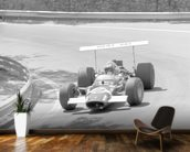 Jo Siffert in a Lotus 49 (Spanish Grand Prix 1969) wallpaper mural kitchen preview