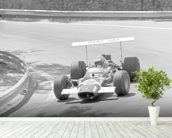 Jo Siffert in a Lotus 49 (Spanish Grand Prix 1969) wallpaper mural in-room view