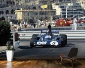 Jackie Stewart, 1973 Monaco Grand Prix in a Tyrrell 006 wallpaper mural kitchen preview