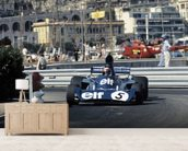 Jackie Stewart, 1973 Monaco Grand Prix in a Tyrrell 006 wallpaper mural living room preview