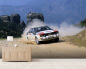 Audi Quattro, Acropolis Rally (1981) mural wallpaper living room preview