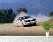 Audi Quattro, Acropolis Rally (1981) mural wallpaper in-room view