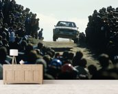 Group B Rally Car and Fans, Portugal 1985 wall mural living room preview