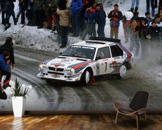 Lancia Delta S4 Driven by Henri Toivionen wallpaper mural
